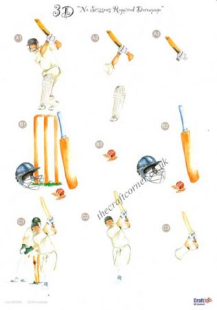 Cricket Die Cut 3d Decoupage Sheet From Craft UK Ltd